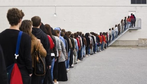 Image result for waiting in a line