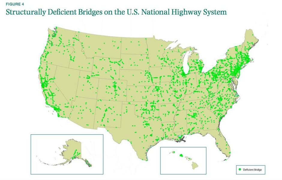 American Bridges With Structural Problems