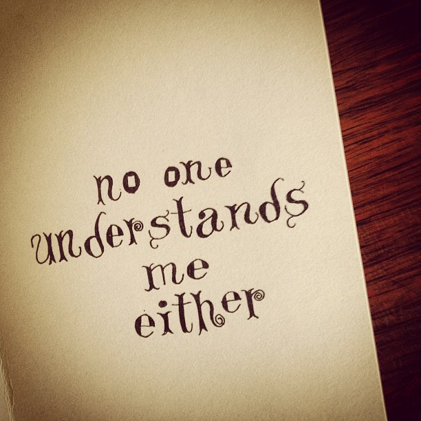 No One Understands You